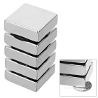 30*30*10mm NdFeB Rectangular Magnet - Silver (5PCS)