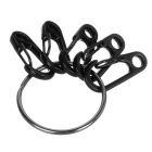 Outdoor Quick Release Ring + D1 Zinc Alloy Carabiner Keychains Set
