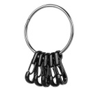 Outdoor Quick Release Key Ring + Carabiner Keychains Set - Silver