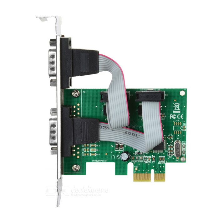 PCIE na COM 9PIN Serial Expansion Card adaptér - Green + Black