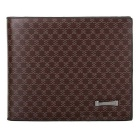 JIN BAO LAI Men's Fashion Business Bi-Fold PU Leather Card Holder Wallet Purse - Coffee