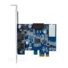 PCI-E to USB 3.0 19Pin Expansion Card - Blue + Silver + Multicolor