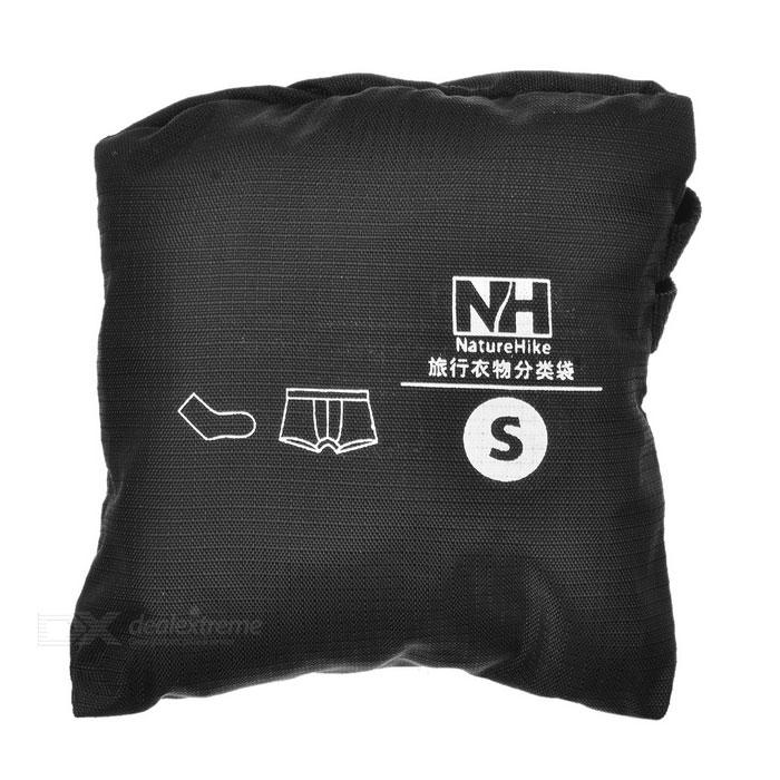 NatureHike Outdoor Travelling Camping Folding Nylon Organizer Storage Bag Container - Black (Size S)