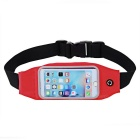 Outdoor Elastic Waterproof Cycling / Rumning Waist Bag - Black + Red