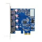PCI-E to 4-Port USB 3.0 Expansion Card - Blue + Silver