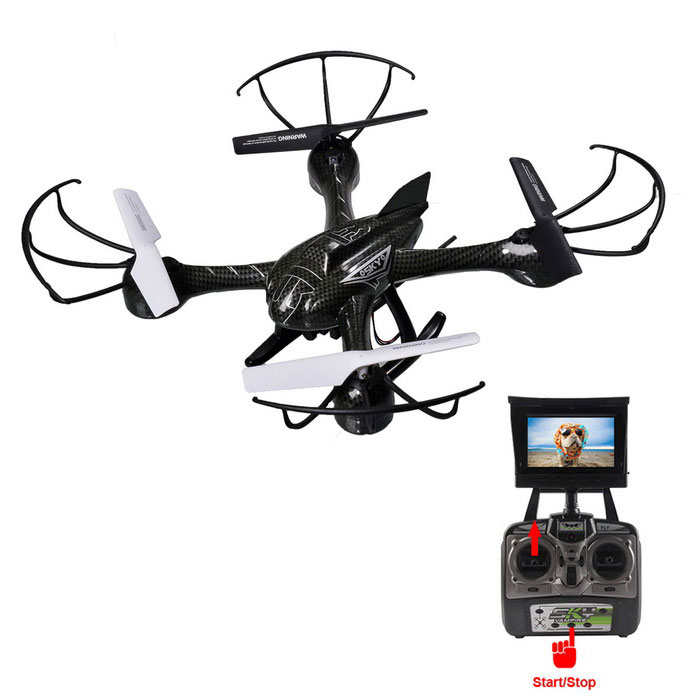 HelicMAX 1335S 2.4G FPV RC Quadcopter Drone w / Camera, Height Hold & Headless Modes, Return - Black