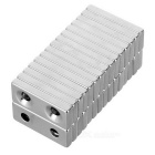 28*12*4mm Square NdFeB Magnet w/ 4mm Holes - Silver (30PCS)