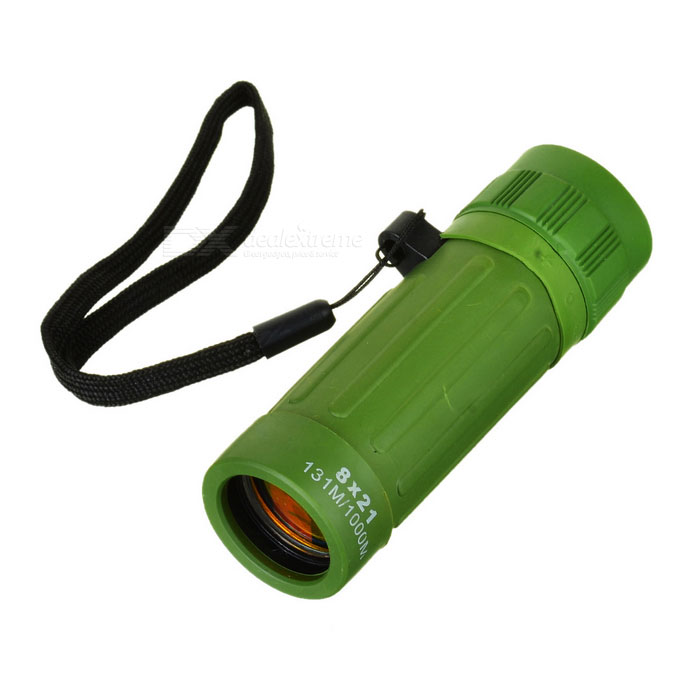CTSmart 8X21 8X Magnification Monocular Telescope - Army Green