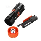 Portable 8-in-1 Multifunctional Screwdriver w/ 2 White Light LED Lamps - Black + Red + Multicolor
