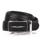 Fanshimite D05 Men's Automatic Buckle Leather Belt - Black (160cm)