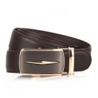 Fanshimite D06 Men's Automatic Buckle Leather Belt - Brown (115cm)