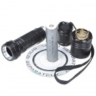 UniqueFire 5-Mode 800LM Warm White LED Flashlight with Strap - Black (1*18650)