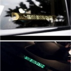 ZIQIAO Car Luminous Temporary Parking Card Number Sticker w/ Suction Cups - Golden