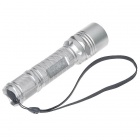 UniqueFire 5-Mode 800LM Warm White LED Flashlight with Strap - Silver (1*18650)