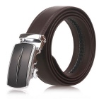 Fanshimite D05 Men's Automatic Buckle Leather Belt - Brown (130cm)
