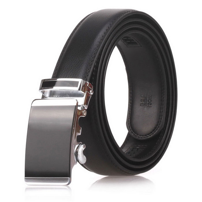 Fanshimite D04 Men's Automatic Buckle Leather Belt - Black (115cm)