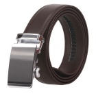 Fanshimite D04 Men's Automatic Buckle Leather Belt - Brown (115cm)