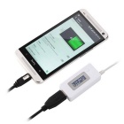 "0.9"" LCD Voltmeter USB Charger Capacity Current Detector Voltage Tester Meter - White"