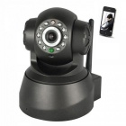 Wireless 0.3MP Network Security IP Camera - Black (US Plug)
