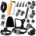 19-in-1 Sports Camera Accessories Kit for GoPro Hero 4 / 3 / 3+ / SJ4000 / SJ5000 / SJCam / Xiaoyi