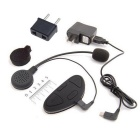 100m BT FM Motorcycle Helmet Intercom Communicator Headset - Black