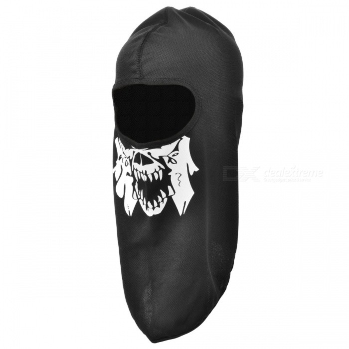 CTSmart Outdoor Skull Style Sunscreen Warm Face Mask / Hat - Black