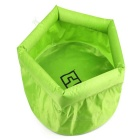 AoTu Outdoor Folding Washbowl for Cycling / Mountaineering / Fishing / Traveling - Green