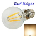 YouOKLight E27 6W LED Filament Bulb Lamp Warm White 3000K 550lm 6-COB - Transparent (AC 100~120V)