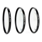 Universal 1X / 2X / 4X Close-up Filter Set for Camera - Black + Transparent