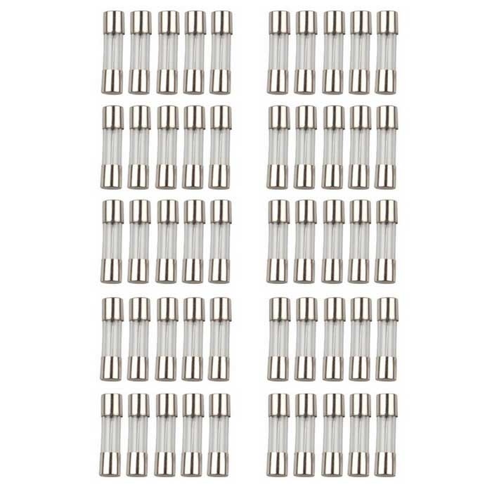 50-i-1 5x20mm kvikk Glass Sikringer Kit 0.5A 1A 2A 3A 4A 5A 6A 8A 10A 20A