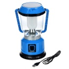 AoTu LSC-9208 Solar USB Rechargeable Camping Lantern - Blue
