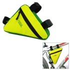 B-SOUL Cycling Quick-Release Triangular Bike Bag - Yellow + Green (1L)
