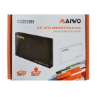 "MAIWO K252U3S Aluminum Alloy 2.5"" SATA Serial USB 3.0 Laptop HDD Enclosure - Black"