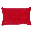 Semi Rectangular Flocked Cloth Air Inflatable Cushion Pillow - Red