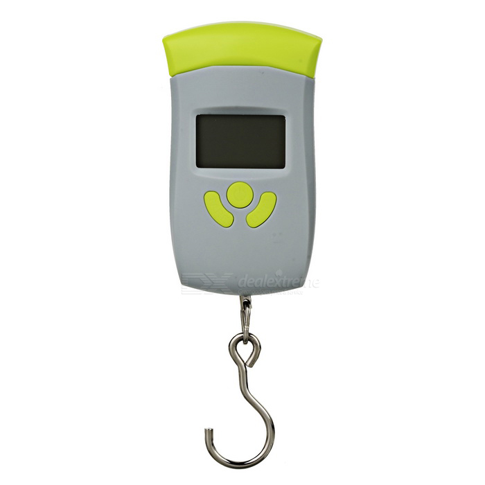 "1.5"" Digital Hanging Luggage Scale - Grey + Yellow Green (50kg/5g/10g)"