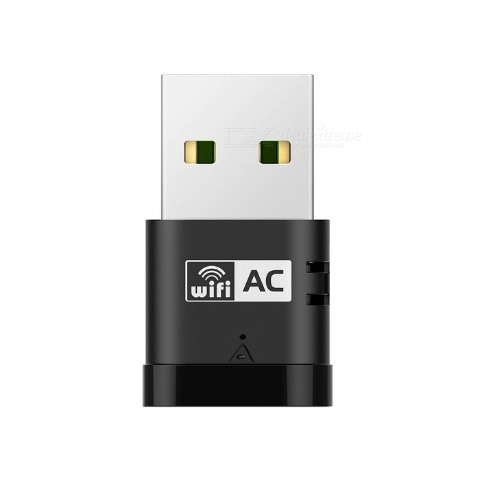 AC600 sem fio duplo Frequency Network Adapter USB - preto