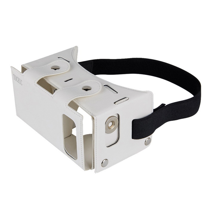 TOCHIC Virtual Reality 3D VR Head Mounted Glasses - White