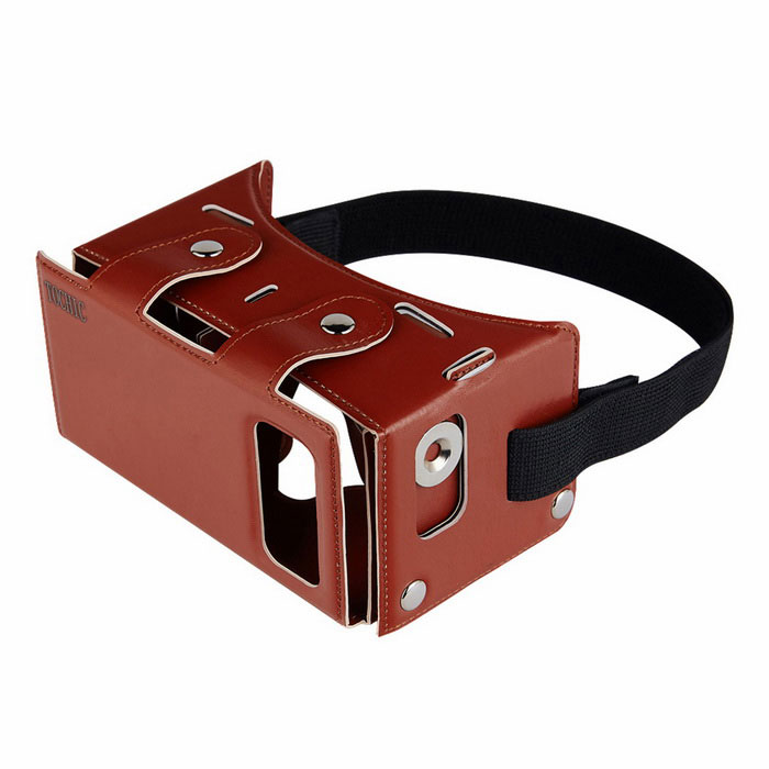 TOCHIC Virtual Reality 3D VR Head Mounted Glasses - Red Brown
