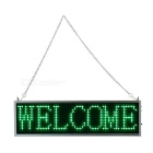 34cm Green LED Message Display Panel w/ USB Cable (US Plug)