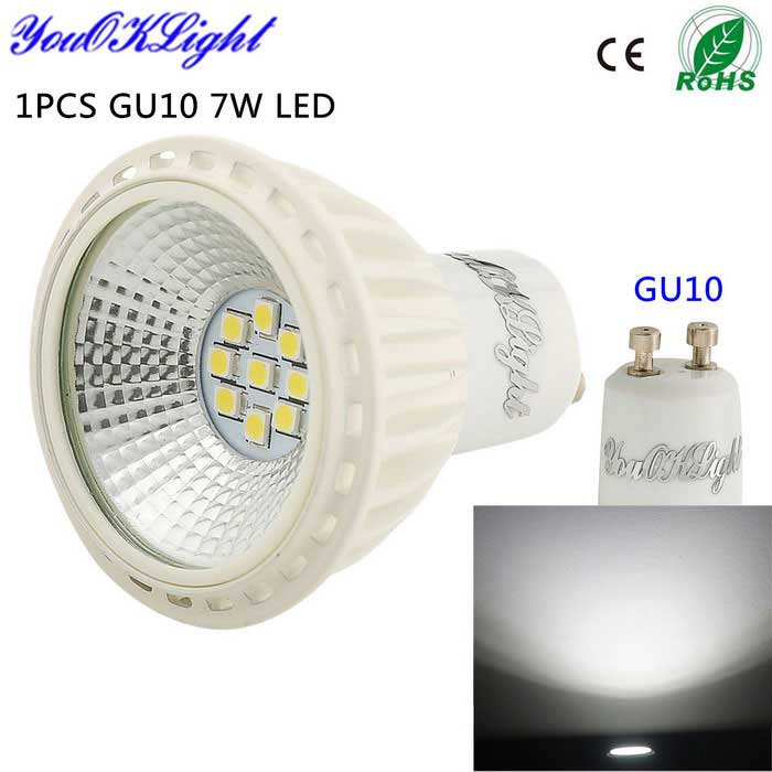 YouOKLight GU10 7W LED Spotlight Cold White Light 550lm (100~120V)