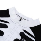 WOSAWE BC273-00M Spring Long-Sleeve Cycling Jersey - Black + White (M)