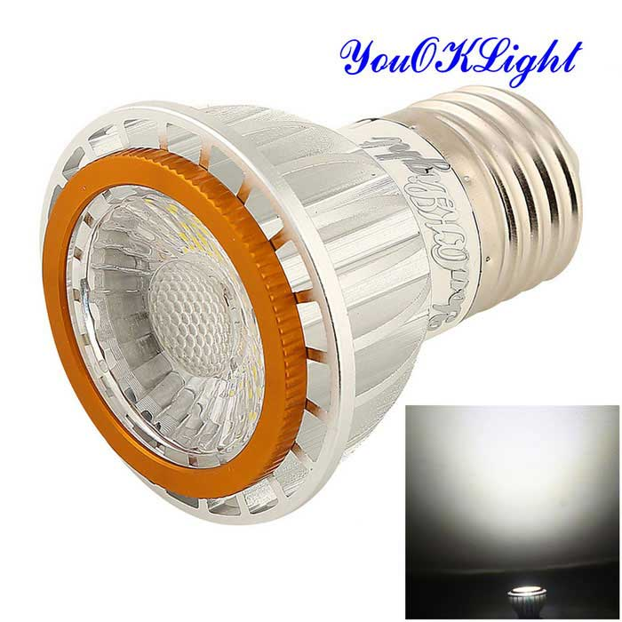 YouOKLight E27 7W COB LED Cool White Light Spotlight (220-240V)