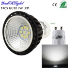 YouOKLight YK1606 GU10 7W LED Spotlight Neutro Branco 550lm (100 ~ 120V)