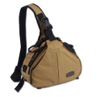 CADEN K1 Camera Messenger Bag for Canon / Nikon - Khaki + Black