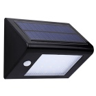 0.9W 20-LED White Human Body Induction Solar Wall Aisle Lamp - Black