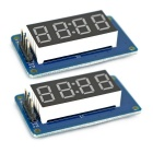 "0.36"" LED 4-Digit Display Modules Digital Tube Brightness Adjustable w/ Clock Point for Arduino"