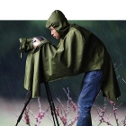 CADEN Water-Resistant Rain Cover Raincoat Protector Rainwear for DSLR Camera - Army Green