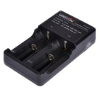 Warsun US Plug Battery Charger Double Slot Seat Cable Charger for 16340 / 14500 / 18650 / 26650