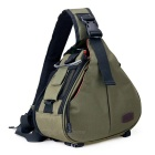 CADEN K1 Camera Messenger Bag for Canon / Nikon - Army Green + Black