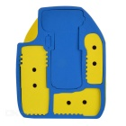 CADEN Professional Inner Padded Insert Bag Divider Case for Canon & More - Blue + Yellow (Size L)
